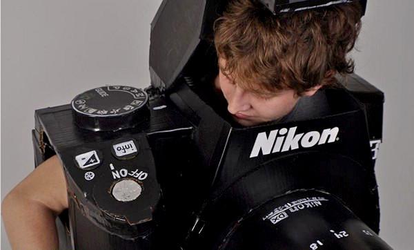 Nikon D3 Camera Costume, костюм-фотоаппарат от Tyler Card