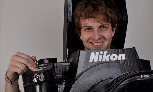 Человек-фотоаппарат. Проект полноценно работающего костюма Nikon D3 Camera Costume