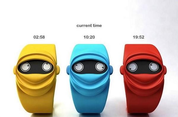 Креативные концептуальные часы Ninja Time