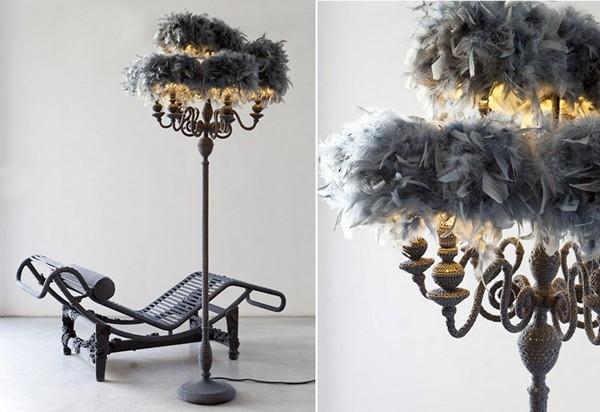 Nodi Contemporanei: коллекция нарядной мебели в оригинальной вязаной одежде