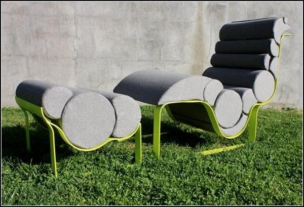 Кресло-лежак  Nouveau Lounge из подушек разной плотности