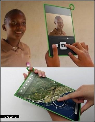 One Laptop Per Child  XO-3. Концептуальный недорогой лэптоп для ребенка