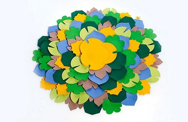 Пуфик и коврик Oli. Креативный дизайн для детской от Menut Estudio