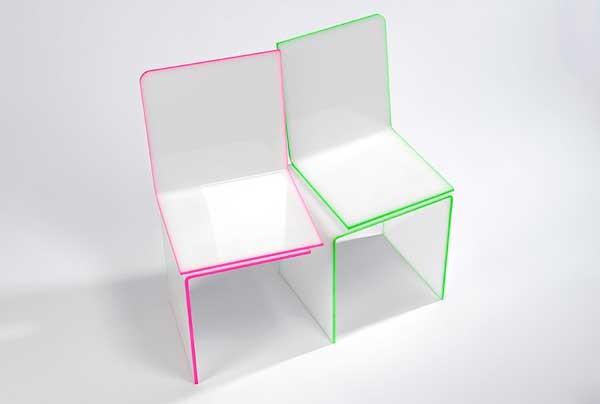 One&Onу Chair, влюбленные стулья-половинки