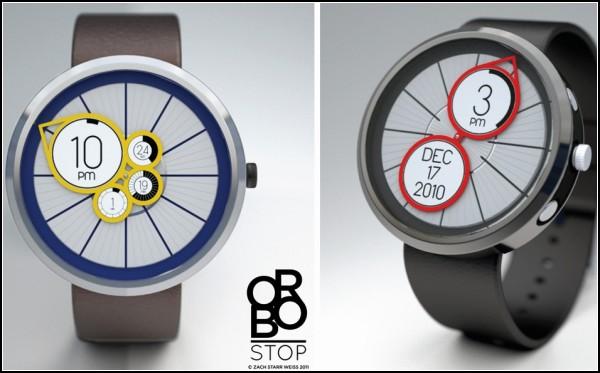 Часы Orbo watch с дополнительными E-Ink дисплеями