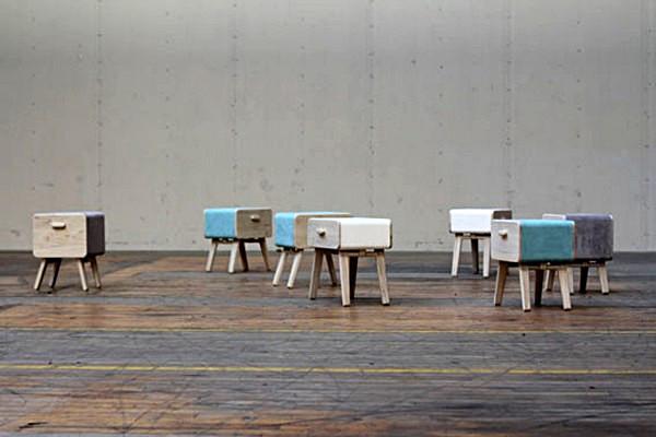 Oturakast cabinet, многофункциональный комод с ящиками-стульями