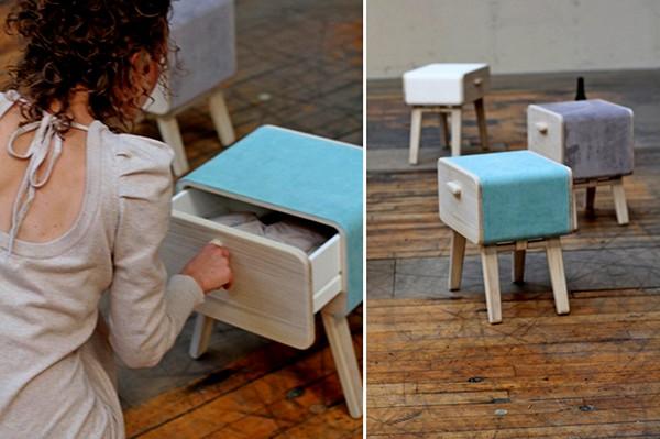 В ящиках оригинального шкафа Oturakast cabinet можно хранить одежду и личные вещи