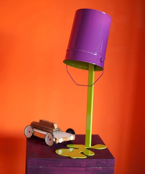 Oops! paint spilled out- oups lamp by nathalie bernollin