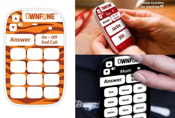 OwnFone: яркий минималистичный телефон с предустановленными номерами контактов