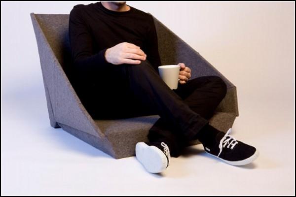 В разложенном виде - мини-стул