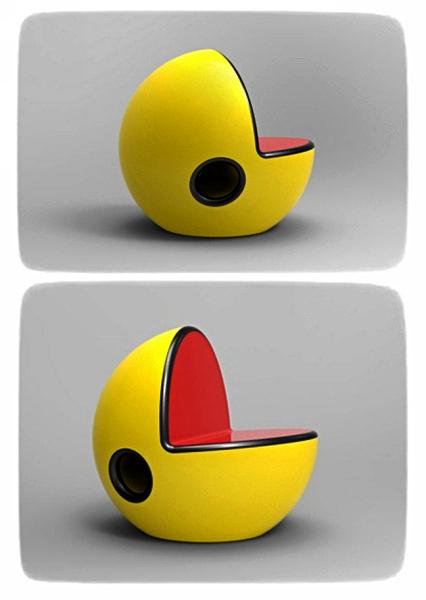 Кресло Pac-Man Chair для любителей старых аркад