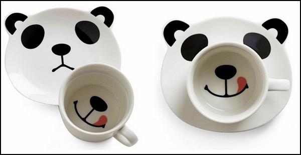 Panda Smile, набор улыбающейся посуды в виде панды
