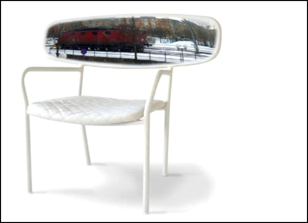 Panorama Chair: стул, декорированный панорамным зеркалом