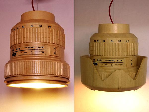 DSLR Paparazzi Lamp: деревянная люстра для фотолюбителя