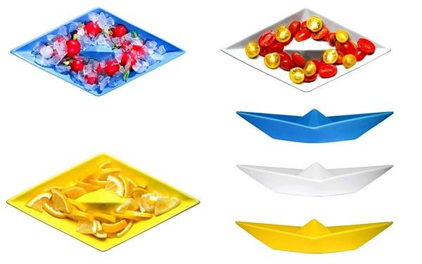 Тарелки-кораблики из набора креативной посуды Paper Boat Tableware