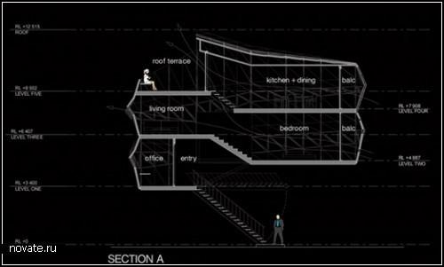 Концептуальная пристройка от Lara Calder Architects