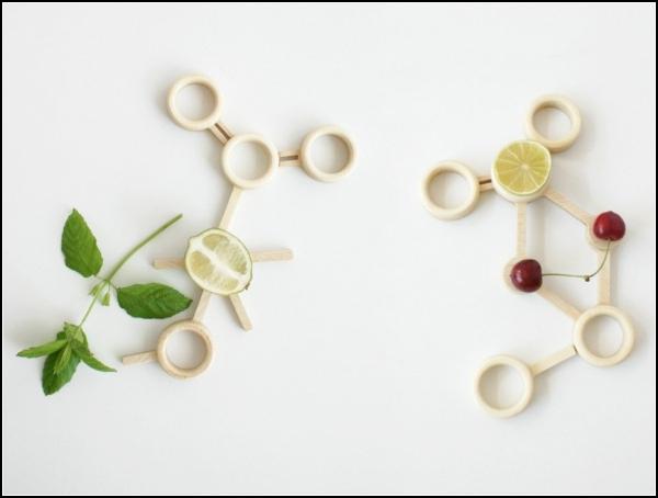 Ваза для фруктов как молекула лимонной кислоты