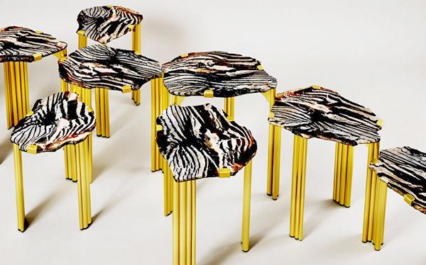 Журнальный столик Pathway Coffee Table из камней-самоцветов