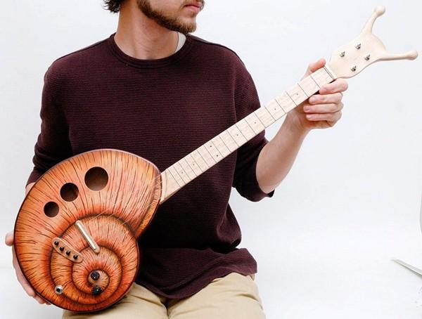 Креативные гавайские гитары (укулеле) от Поля Челентано