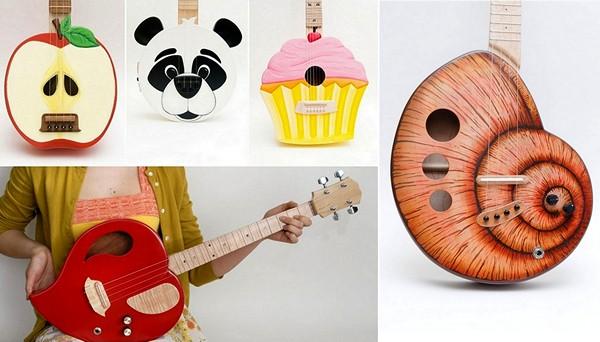 Забавные гавайские гитары от Celentano Woodworks