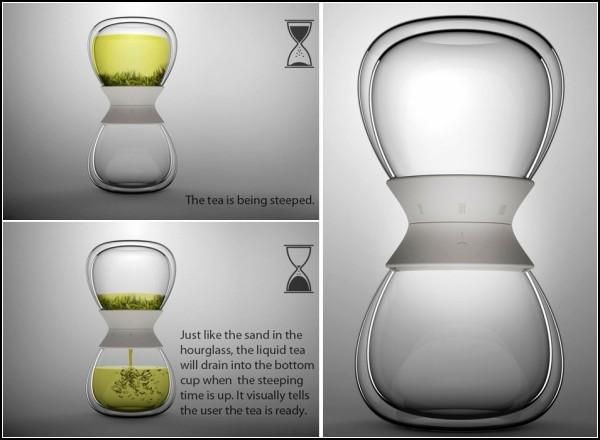 Tea-time tea steeper? концептуальный заварник-часы от от Pengtao Yu