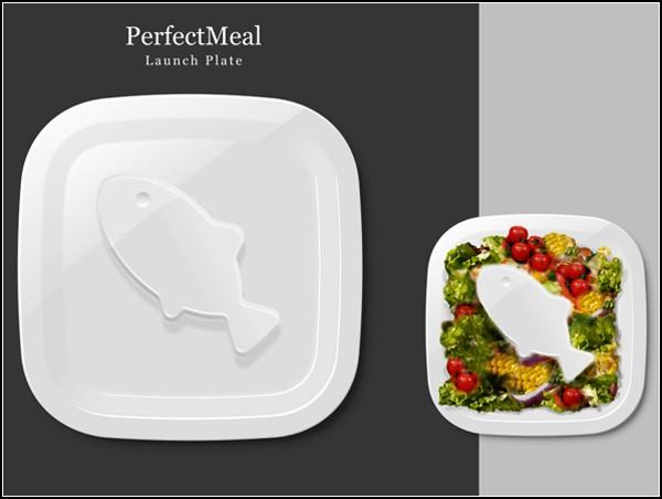 Тарелка PerfectPlate для начинающих диетиков и вегетарианцев