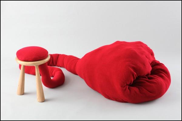 Хвостатая табуретка Pet Stool с *кисточкой*-подушкой