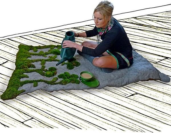 GardenRug, ковер с прорастающими узорами из мха