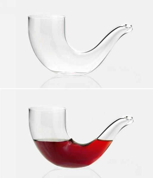 Стеклянная трубка Pipe Glass - необычный бокал для виски