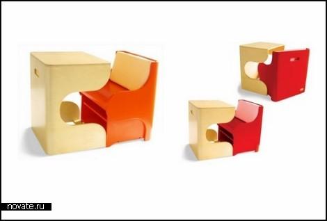 Klick Desk and Chair Set. Мебель-*кубик* для детей