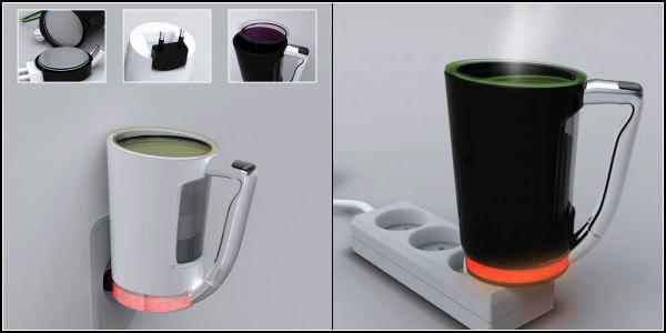 *Ленивая* чашка  Plug Cup для компьютерщиков
