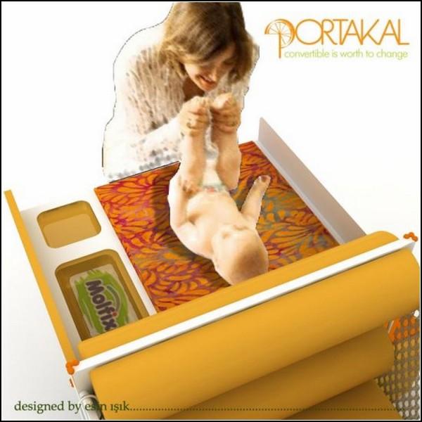 *Апельсиновая кровать* для дошкольника. Проект Portakal convertible bed