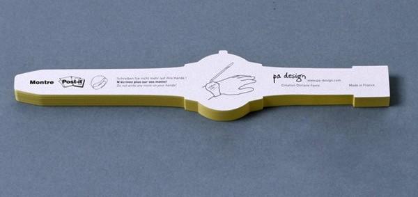 Post-It Watch, стикеры для заметок в виде часов