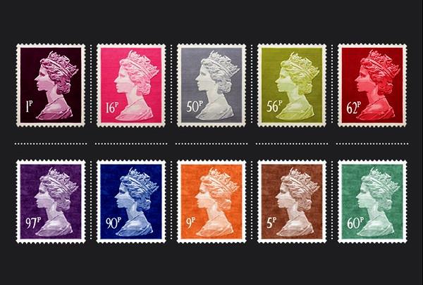 Tapis Tapis timbres avec un profil de la reine