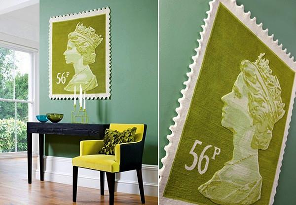 Tapis royal dans une série de timbres Tapis