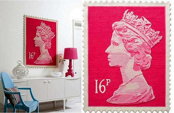 Tapis timbre-poste, des tapis de laine dans une marque britannique