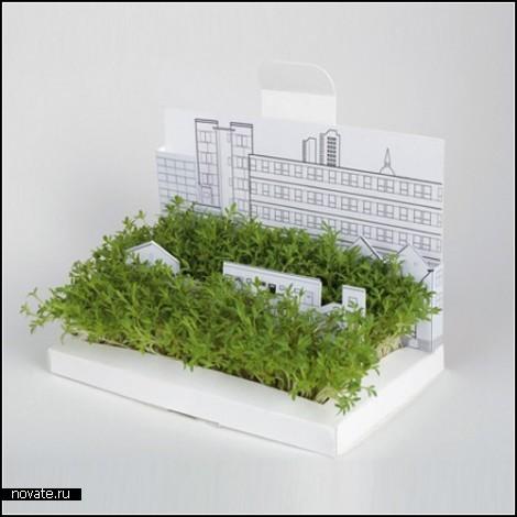 Postcarden. Миниатюрный сад в открытке.