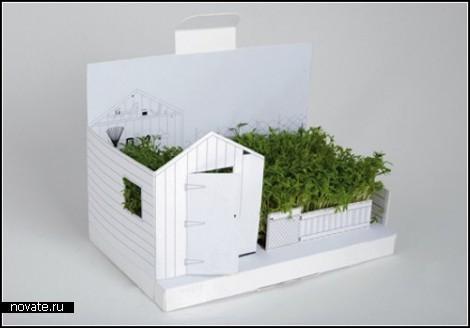 Postcarden. Миниатюрный сад в одной открытке.