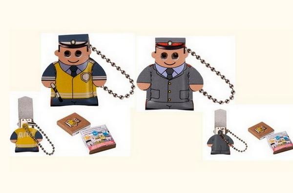 Полицейский и инспектор ГИБДД. USB-флешки из серии Professional