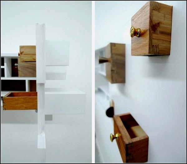 Psych Cabinet, шкаф-сейф с потайными ящичками