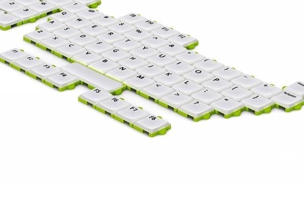 Концептуальная клавиатура Puzzle Keyboard с наборными клавишами