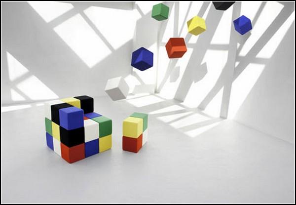 Q3 system. Модульная мебель в виде кубика Рубика