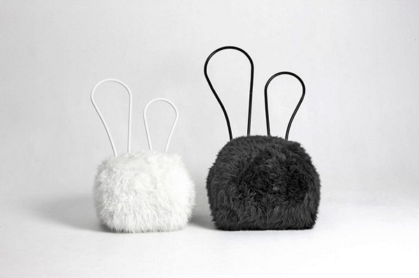Пуфики из серии Rabbit Chair от Seungji Mun