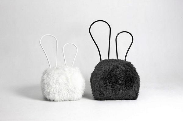 Пуфики из серии Rabbit Chair от Seungji Mun