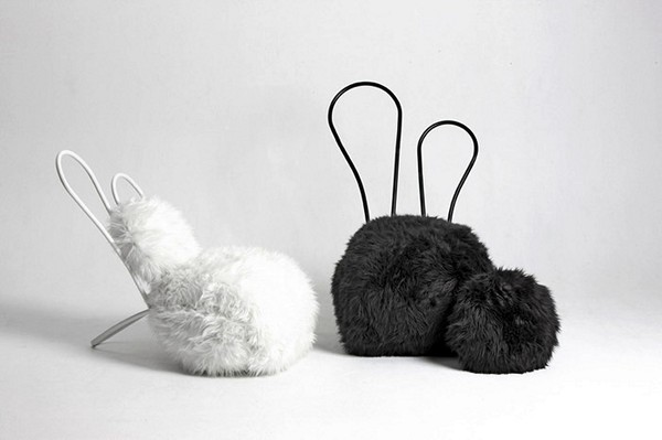 Меховые сидения Rabbit Chair для детей и взрослых