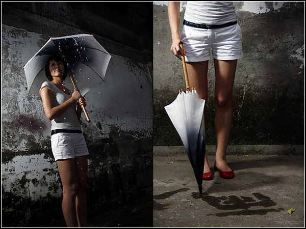 Зонт-кисточка Rain Brush Umbrella для рисования дождливого граффити