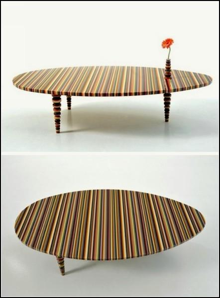 Веселая радужная мебель Hybrid Furniture