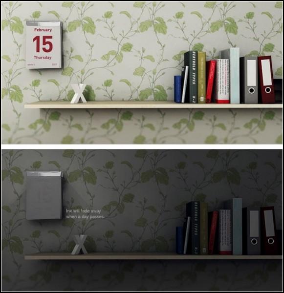 Календарь с исчезающей краской