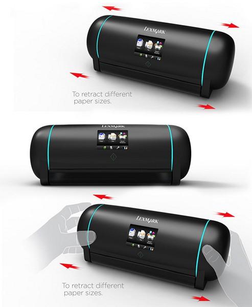 Retractable: удобный и компактный концепт раздвижного принтера