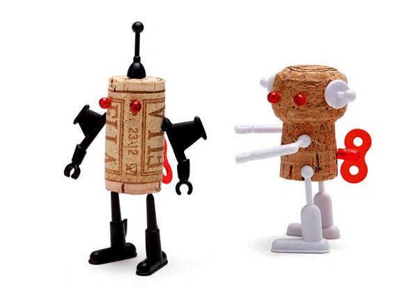 Yuri и Bella, роботы из винных пробок, серия Corkers Robots